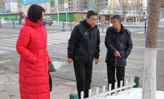 """市委组织部闫忠生副部长一行到我校检查""""清雪除冰""""工作"""